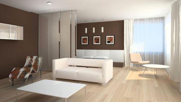 комната в бежево коричневых тонах фото