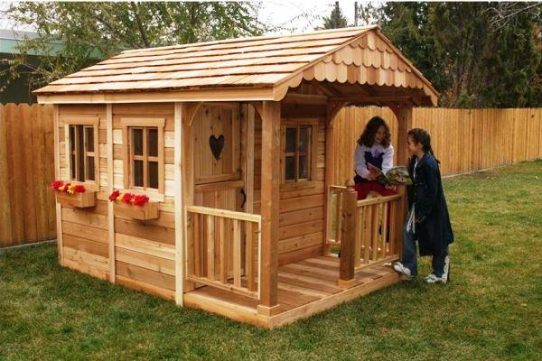 Детские домики для дачи из дерева фото