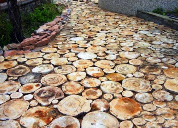 садовые дорожки из дерева своими руками фото