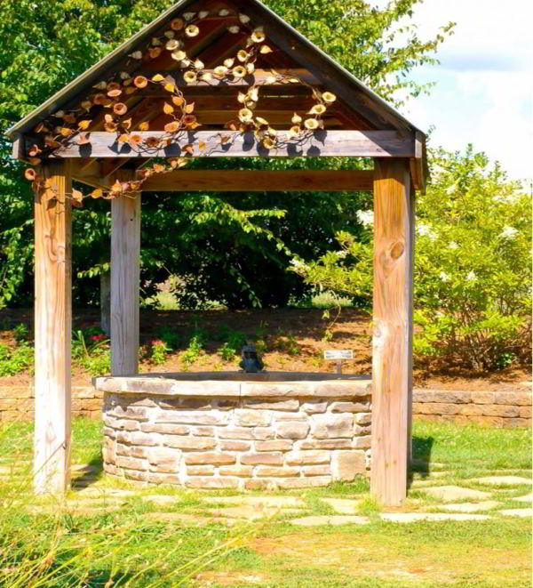 деревянный колодец фото 12