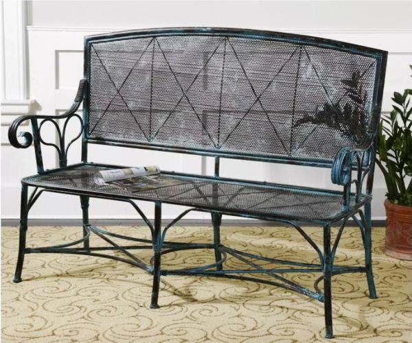кованые скамейки фото 11
