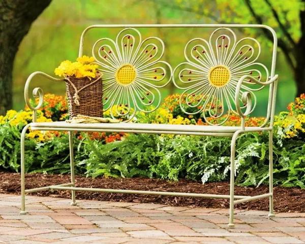 кованые скамейки фото 2