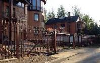 кованые заборы для частного дома фото