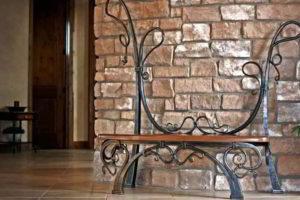 скамейки кованые фото 11