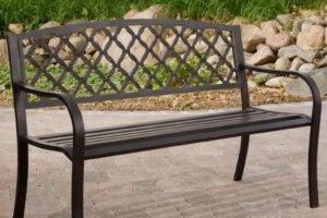 скамейки кованые фото 29