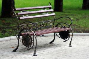 скамейки кованые фото 34