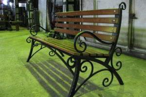 скамейки кованые фото 36