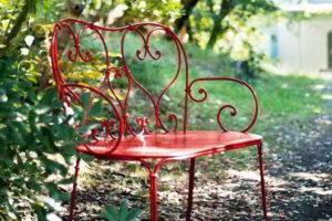 скамейки кованые фото 5