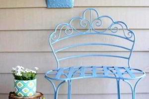 скамейки кованые фото 8