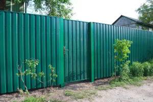 забор из профнастила фото 38