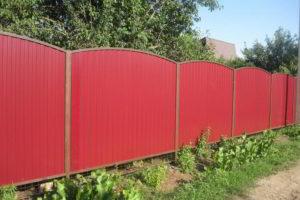 забор из профнастила фото 39