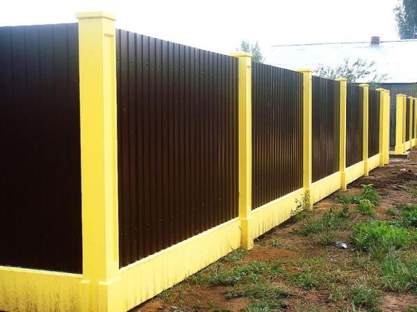 забор из профнастила фото 5