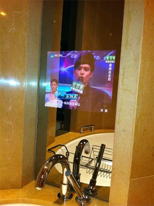 зеркало с телевизором в ванную