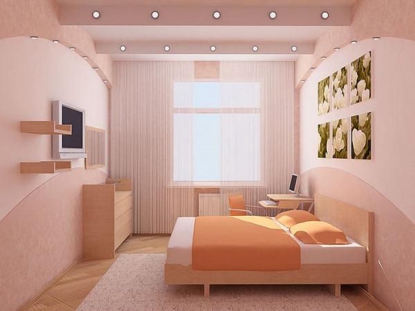 дизайн интерьера маленькой спальни фото