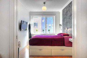 интерьер малогабаритной спальни фото 14