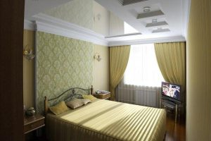 интерьер малогабаритной спальни фото 25