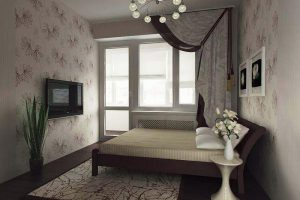 интерьер малогабаритной спальни фото 30