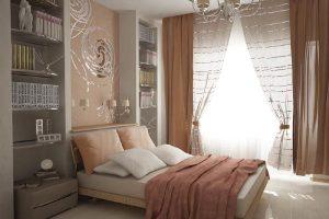 интерьер малогабаритной спальни фото 32