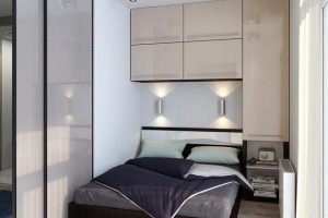 интерьер малогабаритной спальни фото 43