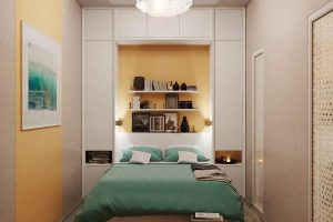 интерьер малогабаритной спальни фото 48