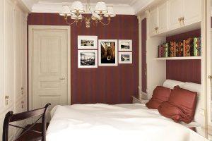 интерьер малогабаритной спальни фото 53