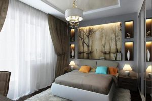 интерьер малогабаритной спальни фото 54
