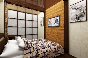 интерьер малогабаритной спальни фото 57