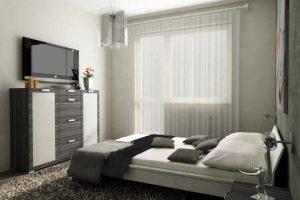 интерьер малогабаритной спальни фото 59