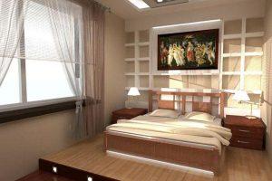 интерьер малогабаритной спальни фото 60