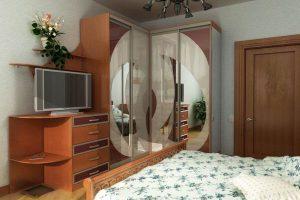 угловой шкаф купе в спальню фото 24