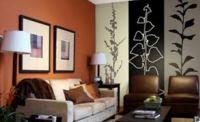 идеи комбинирования обоев в гостиной фото