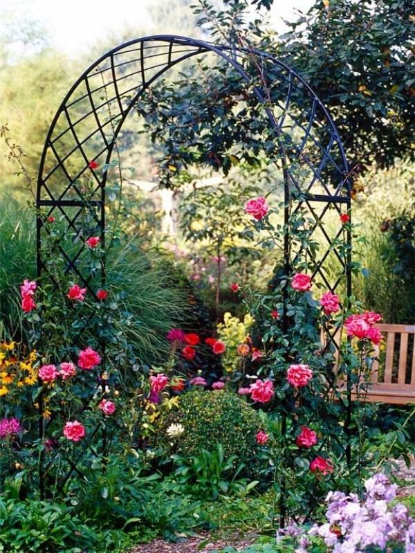 арка для розы своими руками фото 24