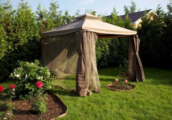 шатер для отдыха с москитной сеткой фото 11