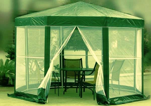 шатер для отдыха с москитной сеткой фото 5