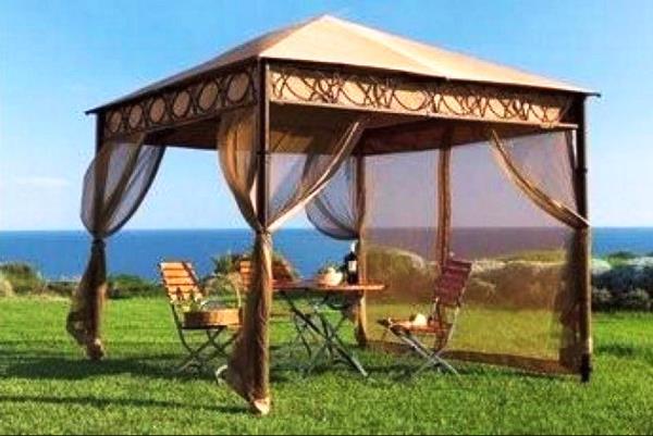 шатер для отдыха с москитной сеткой фото 9