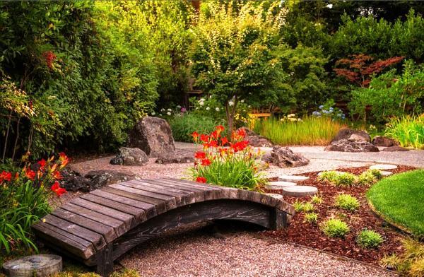 декоративный мостик для сада своими руками фото 12