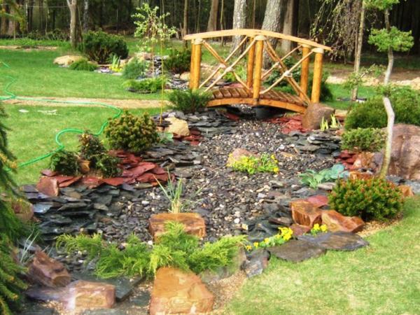 декоративный мостик для сада своими руками фото 13