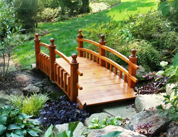 деревянные мостики для сада фото