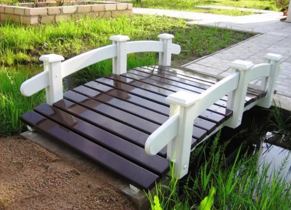 садовые мостики из дерева фото