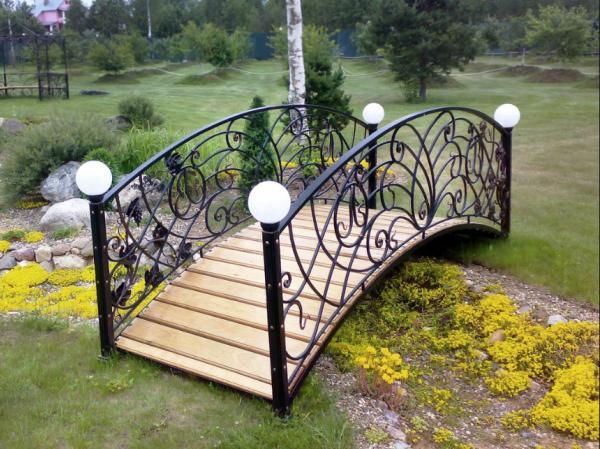 мостики в саду фото