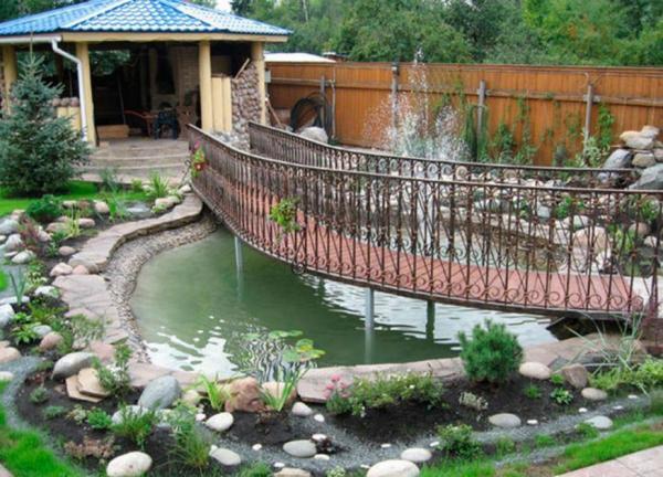 декоративный мостик для сада своими руками фото 9