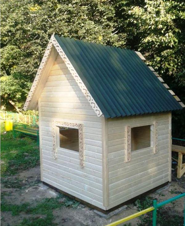 Детские деревянные домики для дачи фото
