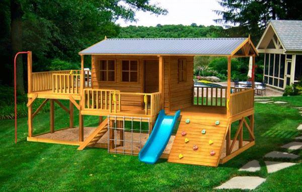детский домик на даче своими руками фото 14