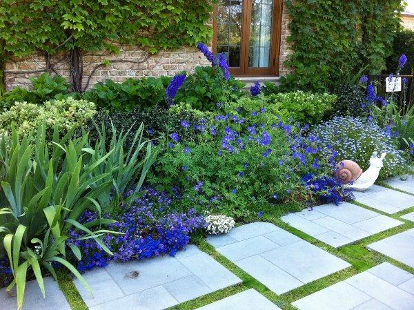 Красивые миксбордеры в дачных садах фото