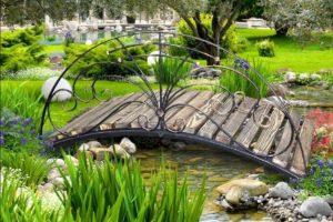 мостик в саду фото 10