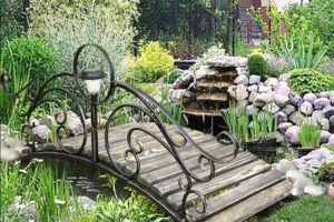 мостик в саду фото 15