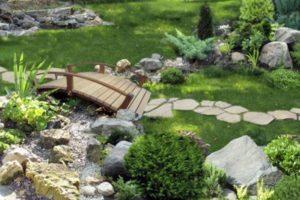 мостик в саду фото 17