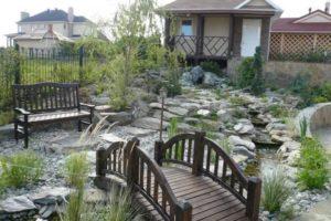 мостик в саду фото 21