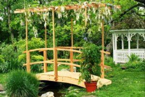 мостик в саду фото 7
