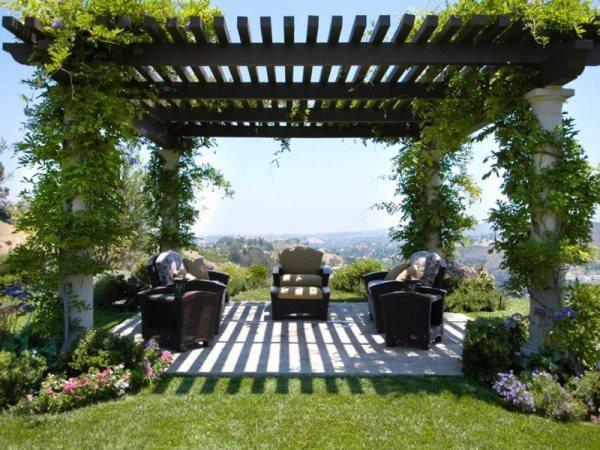 интерьер сада с перголой фото 15